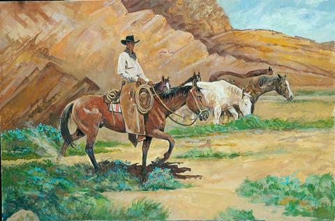 Cowboy Amp Western Paintings H A N K R I C H T E R
